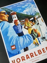 Ski in Austria Skiing Vintage Retro Decorative Poster DIY Wall Home Bar Posters Home Decor Gift
