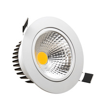 Brightness Dimmable Led Downlight COB 5W 7W 9W 12W Ceiling light Spotlight AC110/220V Recessed Downlight Fixtures For Home(China)