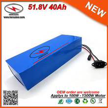 OEM DIY Lithium Ion Battery Pack 51.8V 40Ah Electric Bicycle Battery Pack in 30A BMS 3.7V 5.0Ah 26650 Cell for 1500W Golf Cart T(China)