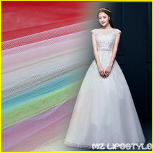 hot sale 10meters/lot 150cm width middle Hard Tulle mesh fabric by lot tulle wedding dress skirt yarn cloth fabric by meter(China)