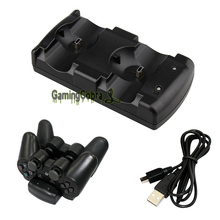 2in1 USB Charger Charging Dock Stand for PS3 Dual Shock MOVE Wireless Controller
