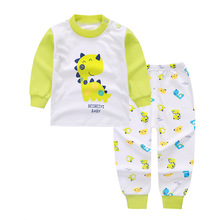 2017 Girl's boys Clothing Sets Baby fashion pajamas suit sleepwears pajamas cotton long sleeve shirts+pants 2pcs set mix
