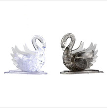 New Swan Crystal Puzzle 3D Animal Jigsaw Toys Gray/Clear DIY Puzzles For Kids Or Adults Children's Educational Toys(China)
