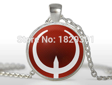 2017 New Promotion Sale Classic Women Maxi Necklace Collier Collares Quake Pendant Round Photo Jewelry Glass Dome NecklacesHZ1(China)