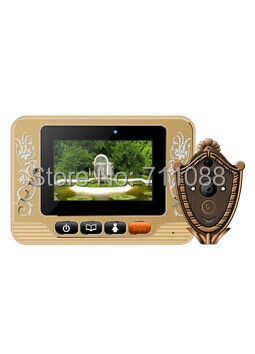 Digital smart peephole door viewer 0.3MP camera photo&amp;video 3.7 TFT LCD touch screen with GSM/MMS function three modes<br><br>Aliexpress