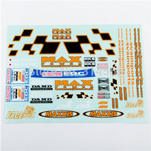 1/10 RC Racing DRIFT Model Car Body Max Power Self Adhesive Decal Sticker Remote Control Car Model Toy Accessories