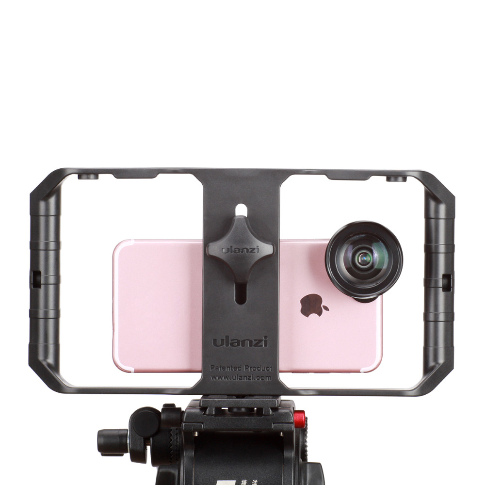 Alician Applied to Ulanzi U-Rig Pro Smartphone Video Rig Phone Video Stabilizer Grip Tripod Mount for Videomaker Film-Maker Filmmaking Case for iPhone X 8 Plus Samsung