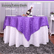 2017 Modern Woven Tablecloth Round High Quality Polyester Jacquard Repellent White Table Cloths for Wedding Home Venue Decor