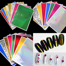 8pcs/set 3D Nail Strip Tape Ultra Thin Laser Nail Art Stickers Silver Stripe Line Zig Zag Sticker DIY Nail Foil Decal 3 Types