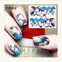 YZWLE 1 Sheet Christmas Design DIY Decals Nails Art Water Transfer Printing Stickers Accessories For Manicure Salon (YZW-2150)(China)