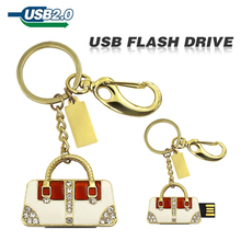 usb flash drive Golden and sliver handbag diamond bag U disk pen drive Gift Jewelry 4gb 8gb 16gb 32gb 64gb pendrive memory disk