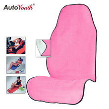 AUTOYOUTH Pink Towel Seat Cushion Universal Fit Car Seat Protector Pet Mat Dog Car Seat Cover(China)