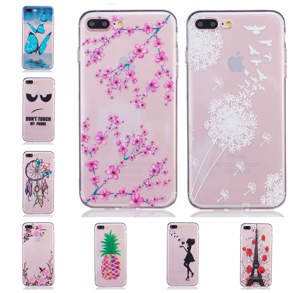 3D Embossed font b Case b font Slim Clear Soft TPU Silicone Cover for Apple font