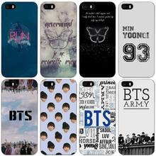 BTS Bangtan Boys music logo Black Plastic Case Cover Shell for iPhone Apple 4 4s 5 5s SE 5c 6 6s 7 Plus