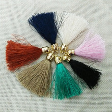 jewelry making fiber Tassel gold caps crimps ends earring charms tassels necklace findings fringe trim pendants accessories diy