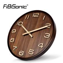 Large Size Big 14 Inch Wood Wooden Wall Clocks For Home Office Decor Simple Design Watch Wall Clock No Glass(China)