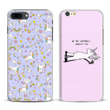 Unicorns Creative Drawing Sketch Coque For Apple iPhone 7 6S 6 Plus 5 5S SE 4 4S 7Plus Mobile Cell Phone Case Cover Shell Bag