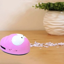 Cute Mini Caterpillar Corner Desk Table Dust Vacuum Micro Sweepers Cleaning Vacuum Cleaner For Car Home Computer Sweeper(China)