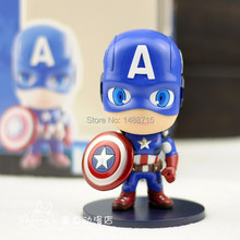 "Hot Sale Classic Superhero Captain Steven Rogers Captain America Marvel The Avengers 5"" Cute Figure Toys New Box(China)"