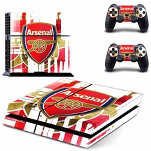 Arsenal Football Team PS4 Skin Sticker Decal For Sony PS4 PlayStation 4 Console + 2 Controllers Stickers, Game Accessories