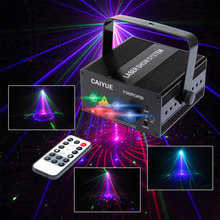 DJ Laser stage light Full Color 96 RGB or 48 RG Patterns Projector 3W Blue LED Stage Effect Lighting for Disco light Xmas Party(China)