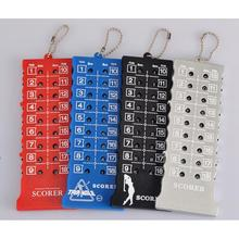 5PCS/lot Black 18 Hole Golf Stroke Shot Putt Score Counter Keeper with Key Chain Wholesale