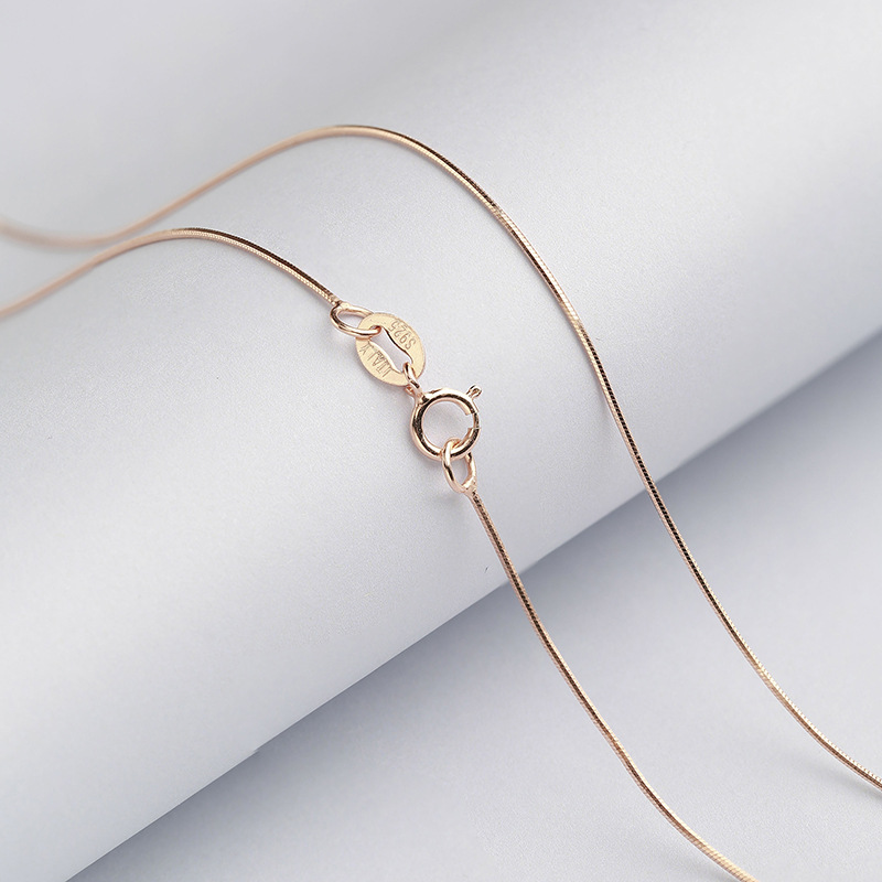 Wholesale-Sterling-Silver-Necklace-Women-925-Silver-Snake-Chain-Three-Gold-Color-0-6mm-Thinkness-Silver (1)