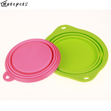 Drinking Bowl for Dogs/ Pet Dog Feeding Trough Silicone Bowl Folding Portable for The Large Medium Small Pets