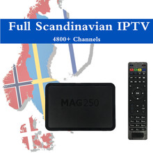 Scandinavian IPTV Mag250 Linux System IPTV Processor STi7105 Top Quality IPTV BOX MAG 250 Norway Sweden Denmark IPTV 4700 Live(China)