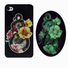 Good Luck Flowers Hard PC Cover Case For Apple iPhone 4s 4 Special Cell Phone Shell (Gift HD Film+Touch Pen + Tracking)