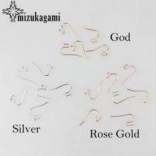 Free Shipping 2017 New Golden Hooks Coil Ear Wire Earrings Findings 100pcs/lot DIY Earrings Accessories(China)