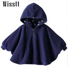 Wisstt 2017 Fashion Combi Baby Coats boys Girl's Smocks Outwear Fleece cloak Jumpers mantle Children's clothing Poncho Cape