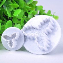 2pcs/lot Multi Texture Leaves Fondant Cake Molds Soap Chocolate Mould for the Kitchen Baking Clay Mould Y50*JJ0251#M5