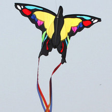 Free Shipping Outdoor Fun Sports NEW 1.37 m Australia Butterfly Kite / Children Kite With String And Handle Good Flying(China)