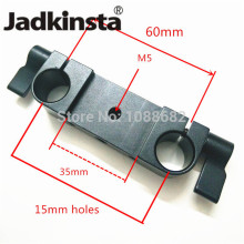 Jadkinsta Black Anodized Rod Rig Clamp Adapter with 1/4 Mount for 15mm Rods Rig System DSLR Photo Studio Accessories(China)