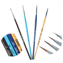 4 pcs/set Color Acrylic Uv Gel Pen Professional Nail Art Paint Drawing Brush Kit Nail Art Manicure Tool(China)