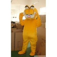 Garfield  Mascot Costume Character Adult Sz 100% Real Picture Free Shipping Longteng plush Cartoon