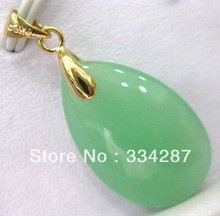 color! charm green/purple oval jades bead 18KGP pendant necklace