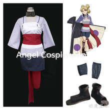 Free DHL Shipping Japan Hot Anime Naruto Temari Cosplay Costume For Adult Children Full Set