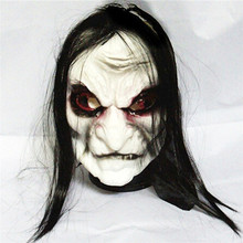 hot New halloween mask Long Hair Ghost Mask Blooding Ghost Cosplay Costumes realistic silicone masks masquerade.b(China)