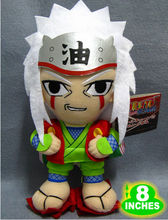 Free Shipping Naruto Jiraiya Plush Doll Toys Figure 8inches Stuffed Anime Manga Birthday Present Gift