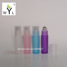 3ML roll on plastic bottles essential oil perfume deodorant packaging bottle portable massage ball WYL(China)