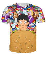 Gene Belcher T-Shirt Bob's Burgers 3d cartoon character print funny design summer t shirt women men tees tops(China)