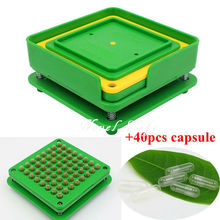 64 Holes Manual Capsule Filling Machine Pharmaceutical Capsule Maker Filler Size 0 for DIY Herbal Capsules Pill Drugs Novel Life