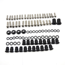 Motorcycle Fairing Body Bolt Screws Fastener Nuts Washers For Kawasaki ZX9R ZX-9R 2002 2003