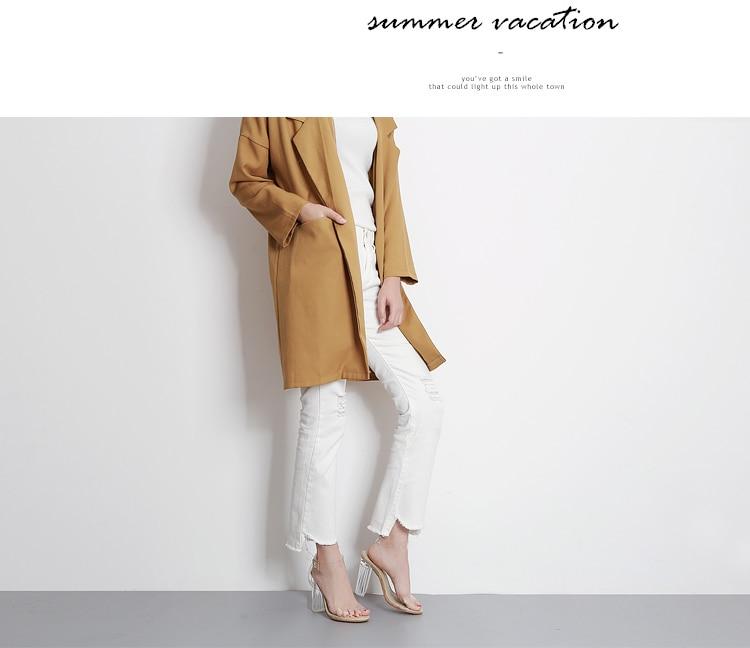 2017 Nouvelle Marque PVC Femmes Pompes Sexy Effacer Transparent 11