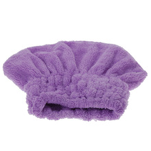 Purple Useful Home Textile Dry Hair Hat Microfiber Hair Turban Bath Solid Quickly Dry Hair Shower Caps Wrapped Towel Bathing Cap