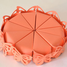 20Pcs/lot Wholesale Butterfly Decoration Cake Candy Box /Romantic Wedding Decoration/ Box for Wedding Invitations and Favors