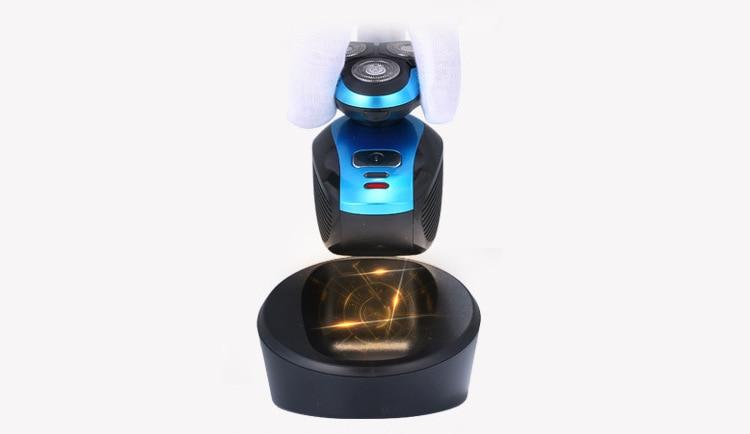 Coldless Charging Electric Men\'s Shaver 4D Razor Triple Blade Shaver Waterproof2