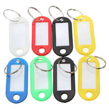 New Arrival 30Pcs/Set Coloured Plastic Key Fobs Luggage ID Classified Garment Tags Labels Keyrings with Name Cards